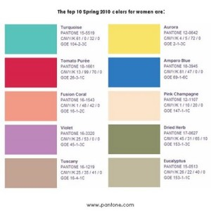 Top 10 Spring 2010 Color