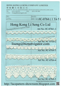 C0764 (1-5) Water Soluble Lace