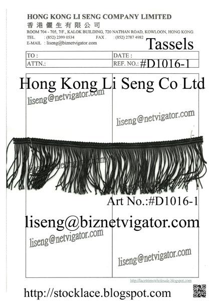 Black Tassels ( Garment Accessories ) Manufacturer Wholesale and Supplier - Hong Kong Li Seng Co Ltd
