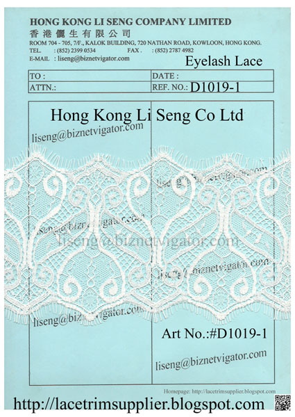 Eyelash Lace Trims Suppliers Wholesale Manufacturer - Hong Kong Li Seng Co Ltd