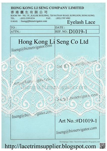 Eyelash Lace Trims Suppliers Wholesale Manufacturer - Hong Kong Li Seng Co Ltd