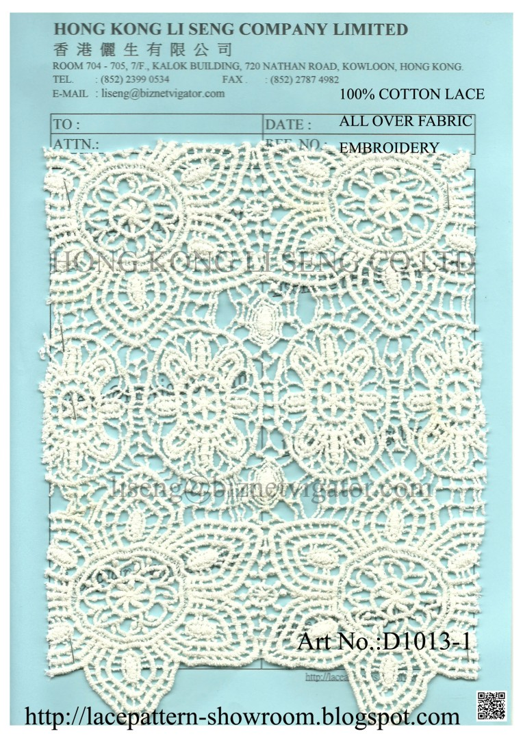 All Over Fabric Embroidery Manufacturer Wholesale and Supplier - Hong Kong Li Seng Co Ltd
