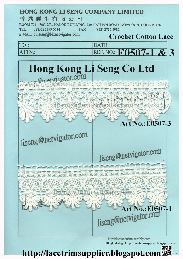 New Crochet Cotton Lace Product Factory - Hong Kong Li Seng Co Ltd