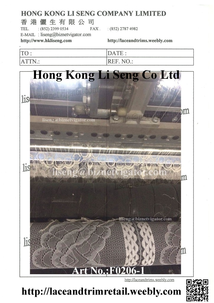 "We are Lace Trims Factory "" Hong Kong Li Seng Co Ltd "" http://laceandtrims.weebly.com"