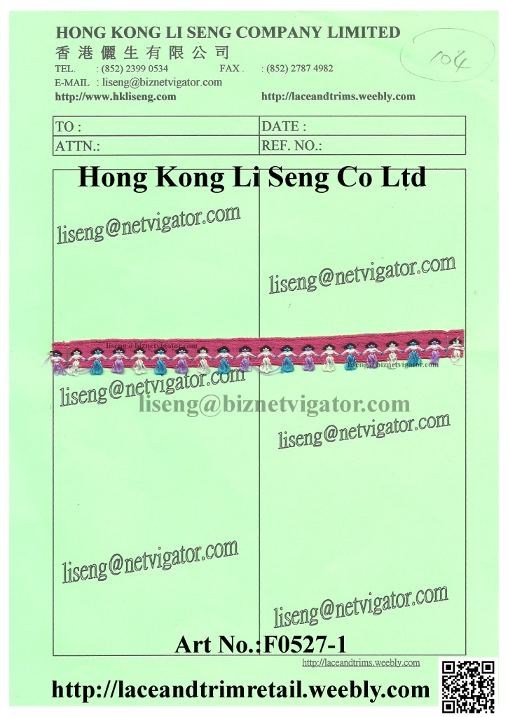 104 F0527-1 Embroidered Braid Ribbon